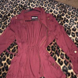 Burgundy long sleeve top